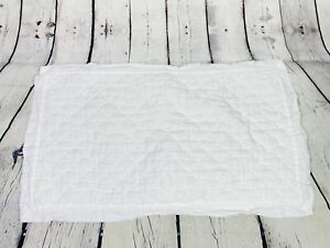 Pottery Barn King Size White Linen Quilted Single (1) Pillow Case