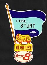 I LIKE STURT & GOLDEN FLEECE Vinyl Decal Sticker PETROL afl vfl SANFL TWO BLUES