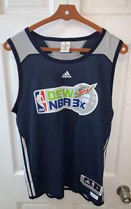 adidas NBA x Mountain Dew 3X Basketball Jersey Men Small S Blue 3v3 Tourney