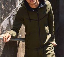 Nike Tech Fleece Brisaveloz para hombre con capucha 805144-330 dark loden Talla L Nuevo