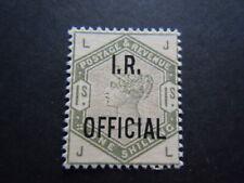 Gran Bretagna 1878 regina FISCO IR OFFICIAL  francobolli nuovo M.N.H**   RRR