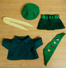 """VINTAGE GIRL SCOUT OUTFIT shirt skirt hat sash belt ti for 16"""" CPK Cabbage Patch"""