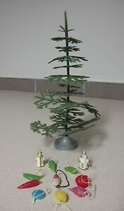 Russian Christmas Mini Tree with decorations vintage Ёлочка Малютка