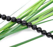 "16"" Strand BLACK ONYX Agate Loose Beads . Round 6mm gon0004"