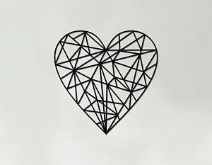 Heart Art - Wooden Laser Cut Wall Art - Geometric Heart Art