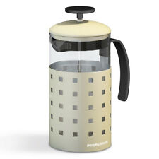 Morphy Richards 1000ml 8 Cup Cafetieres Tea Coffee Maker French Press Cream New