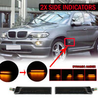 2x DYNAMIC WING SIDE MARKER INDICATORS LED LIGHT REPEATER For BMW X5 E53 E36