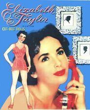 VINTAGE UNCUT 1950 Elizabeth Taylor PAPER DOLLS ~WHITMAN~ LASER REPRODUCTION LOP