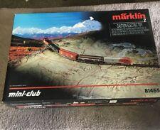 Marklin 81465 Z-Scale American Freight Train Set Track Real Nice Rare