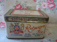Antique RIDGWAYS H.M.B. Her Majesty's Blend TEA Advertising Tin