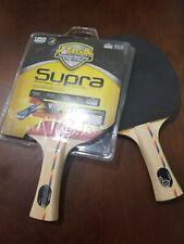 Pair of Stiga Supra Table Tennis Rackets Ping Pong Paddles Red Black
