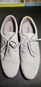 Aldo Size 13 Grey  Lace Up Low Top Men's Shoes