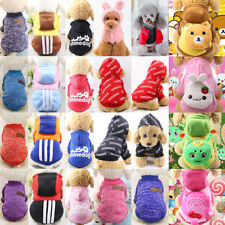 Puppy Cat Dog Winter Clothes Apparel Pet Sweater Jumper Hoodie Coat Costume Lot
