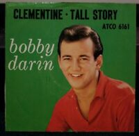 BOBBY DARIN 'TALL STORY/CLEMENTINE' 45 RPM PICTURE SLEEVE