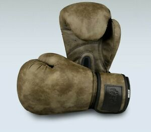 Boxing Gloves Retro Style PU Leather Muay Thai Free Fight MMA Training Gloves