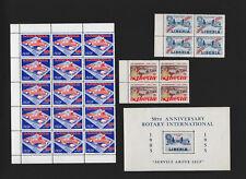 OPC 1950's Liberia Air Mail Block Lot MNH MH 33257