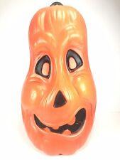 Pumpkin Grumpy Gourd Blow Mold 22� Vintage Halloween Face Head W/ Light Cord