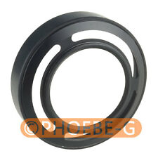 Black Metal Lens Adapter Ring + Lens Hood for Fujifilm Fuji X10
