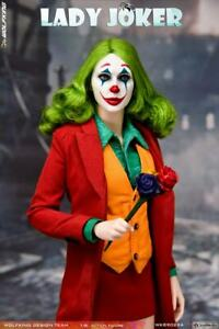 """WOLFKING 1/6 Red Clothes Girl Joker Clown Action Figure WK89022B 12"""" Female Body"""