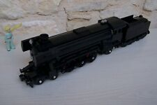 lego train emerald night 10194 with tender , modified .... black and black ....