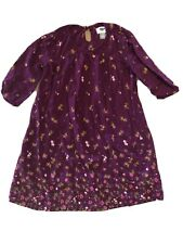 Old Navy Long Shirt Dress Girls Size 6/7 Small Burgundy Floral