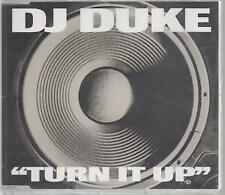 DJ DUKE Turn It Up CD UK Ffrr 5 Track Radio Edit B/W Eurotec Groove, Demo
