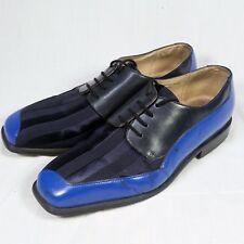 Giorgio Brutini Shoes Mens Black Blue 10.5 Two Tone Oxfords Rockabilly