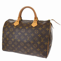 Auth LOUIS VUITTON Speedy 30 Travel Hand Bag Monogram Leather M41526 78MG099