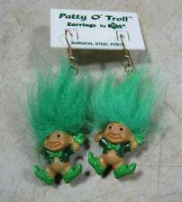 Vintage Russ Patty O' Troll Earrings NOS Troll Doll Earrings