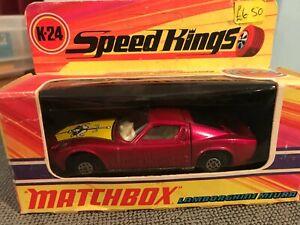 Matchbox Speedkings Lamborghini Miura Clear GlassK-24 - Very Good Condition
