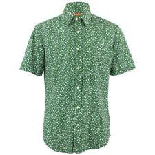 Camicie casual e maglie da uomo verde con fantasia pois