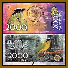 """El Club De La Moneda 2,000 Cafeteros, 2016 """"D"""" Series Amazonian Motmot Bird Unc"""