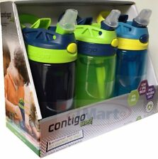 3x Contigo Kids Travel Autospout Water Bottle Leak Spill Proof 414ml BPA 3