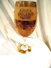 "Austrian/Germany Glass Vase W/Cameos & Rhinestones 16"""