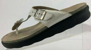 SAS Sanibel Thong Sandals Footbed White Tripad Comfort Flip Flop USA Womens 8 M