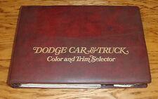 Original 1974 Dodge Car & Truck Color & Trim Selector Dealer Album 74 Challenger