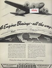 TWA TRANSCONTINENTAL & WESTERN & PAA BOEING 307 STRATOLINER 1940 BOEING FIRST AD