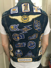Rare Vintage 1970s Leeds United Fan Denim Waistcoat with Super Rare Badges
