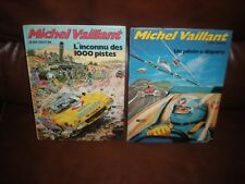 MICHEL VAILLANT - LOT 2 EDITIONS ORIGINALES PILOTE A DISPARU INCONNU 1000 PISTES