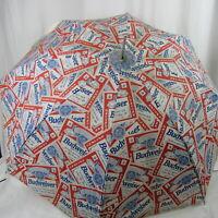 Vintage Budweiser Umbrella advertisement Rain Sun Shield Authorized Full Print