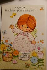 Vintage Paperdoll Card Gibson Play Card Easter
