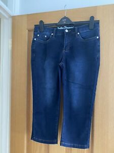 Ladies 3/4 Length Cropped Jeans By John Baner. Size 12. Dark Blue. Worn Once.