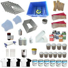 Full set 6 Color Screen Printing Materials kit Squeegee Ink Tools Supply