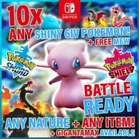 ⚔️ x10 POKEMON SWORD SHIELD ULTRA SHINY BATTLE READY BUNDLE 6IV ITEMS + MEW