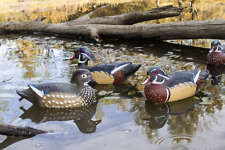 Durable Wood Duck Decoys 6 Pcs Set Carved Highly Visible Outdoor Hunting Gifts