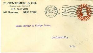 Envelope  P Centemeri & Co New York NY to Cobleskill NY 10/17/1907