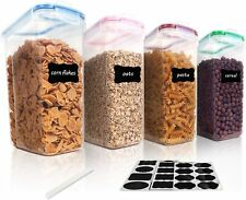 Cereal Storage Container Set, BPA Free Plastic Airtight Food Storage Containers