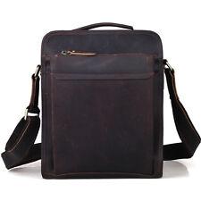 Men's Vintage Crazy Horse Leather Messenger Shoulder Bag Satchel Cool Small Case