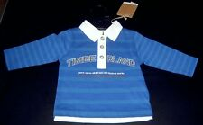 TIMBERLAND BABY BOYS FRENCH BLUE STRIPED POLO TOP SZ 6 MONTHS NEW WITH TAGS