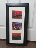 Eduardo Guzman San Francisco Ltd Ed Numbered Framed Lithograph Golden Gate City